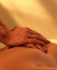 Picture of a massage therapist giving a deep-tissue massage