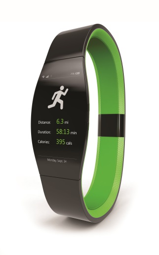 Fitness tracker to be worn on the wrist