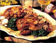 Cornish hens with ginger plum stuffing