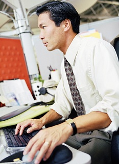 Man working at computer
